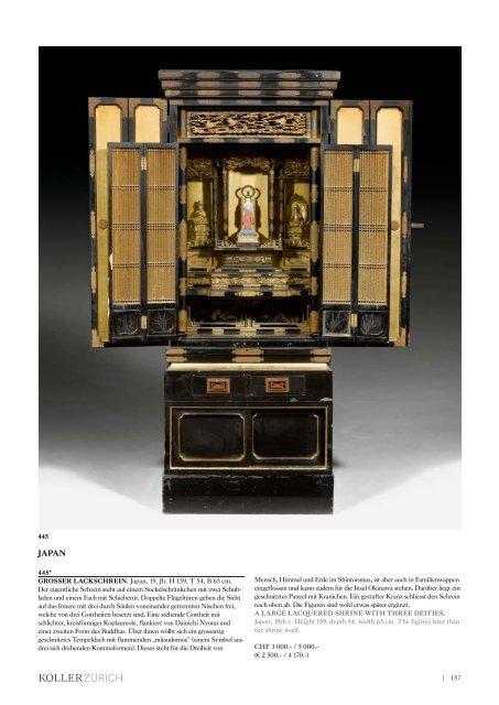   157 445* GROSSER LACKSCHREIN. Japan, 19 ... - Koller Auktionen
