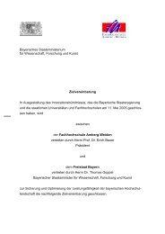 Amberg-Weiden - Bayerisches Staatsministerium für Wissenschaft ...