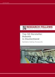 Top 50 Hersteller Robotik in Deutschland - Research-Fellows