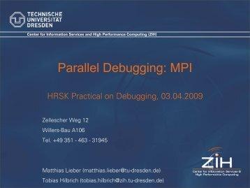 Parallel Debugging: MPI