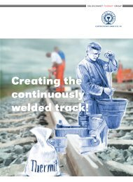 Creating the continuously welded track! - Elektro Thermit GmbH ...