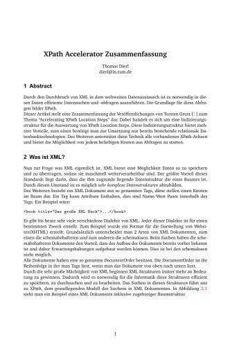 XPath Accelerator Zusammenfassung