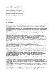 Josef M. Schmidt, MD, PhD, PD Publications - Institute of Ethics ...