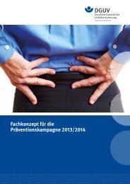 Fachkonzept für die Präventionskampagne 2013/2014 - Deutsche ...