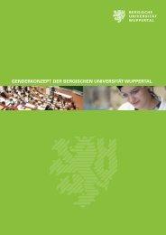 Genderkonzept - Gleichstellungsbüro - Bergische Universität ...