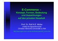 E-Commerce – - Institut für Agrarökonomie - Christian-Albrechts ...