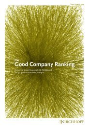 Good Company Ranking 2009_d - Kirchhoff Consult AG