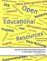 Konzept für Open Educational Resources im sekundären - L3T