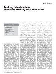 WI 06/05: Ranking ist nicht alles – aber ohne Ranking wird alles nichts