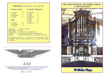 Orgel - Michael Walcker-Mayer