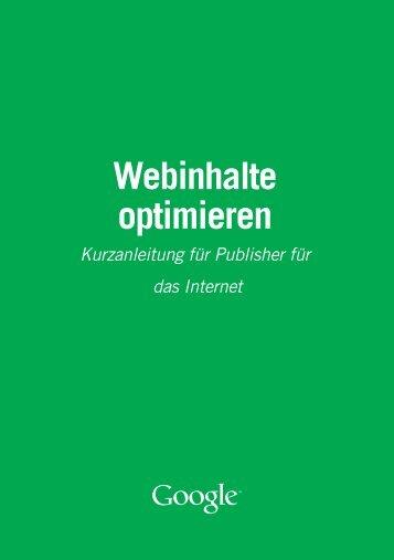 Webinhalte optimieren - Google Books