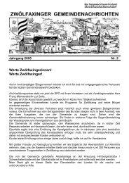 Gemeindezeitung Juli 2005 - Gemeinde Zwölfaxing