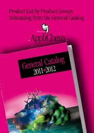 Download complete Product List by Product Groups 2011 - AppliChem