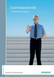 Leitfaden Zutrittskontrolle - Siemens Building Technologies