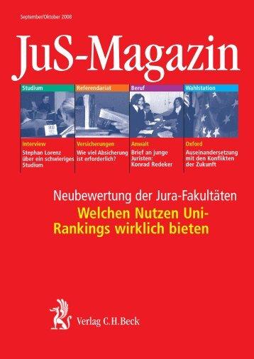 Welchen Nutzen Uni- Rankings wirklich bieten - Verlag C. H. Beck ...