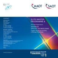 MAOT Brochure - Erlangen Graduate School in Advanced Optical ...
