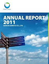 Annual Report 2011 - Daiichi Sankyo