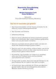 Referenz Bayerischer Gesundheitstag - Gesunde Schule Freising