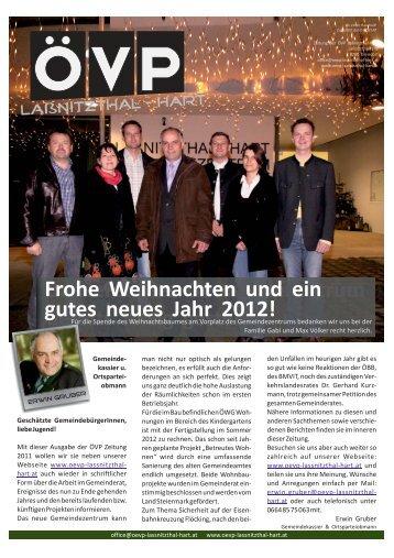 Frohe Weihnachten und ein gutes neues Jahr 2012! - oevp ...