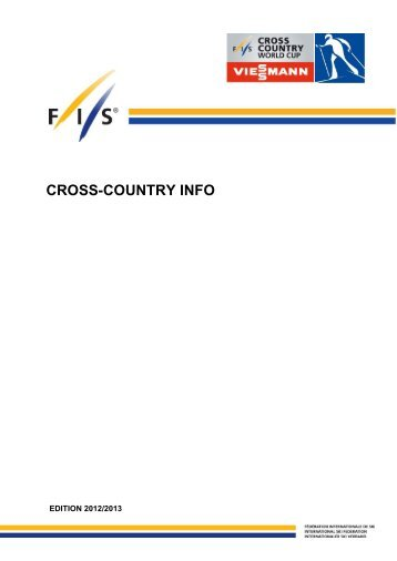FIS Langlauf Info Büchlein 2012-2013