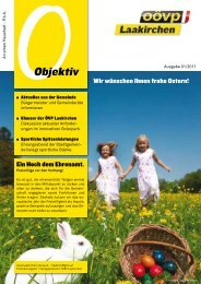 Objektiv April 2011 - ÖVP Laakirchen