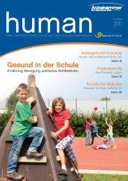 HUMAN Ausgabe 03/2011 - gesund-in-ooe.at