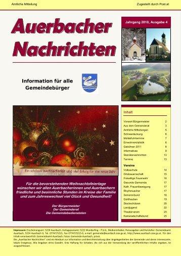 Der Bürgermeister informiert … - Auerbach
