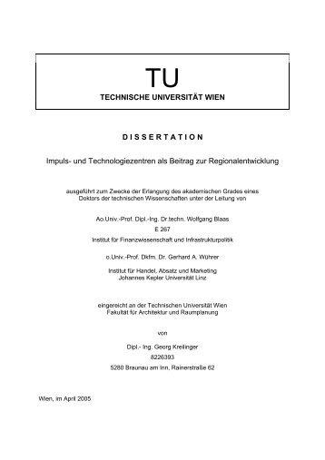 Impuls- und Technologiezentren als Beitrag zur ... - VTÖ