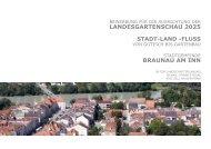 Bewerbungsunterlagen mit Konzept zur Landesgartenschau
