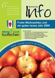Gemeinde Info Folge 4/2008 - Taufkirchen an der Pram