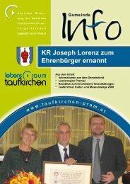 Gemeinde Info Folge 1/2009 - Taufkirchen an der Pram