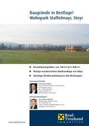 Verkaufsunterlagen Grundstücke (pdf) - Wohnpark Staffelmayr