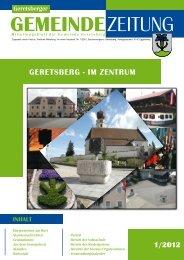 Gemeindezeitung 1/2012 (4,37 MB) - Gemeinde Geretsberg