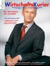 Wirtschaftskurier 07 2007 - VÖWA