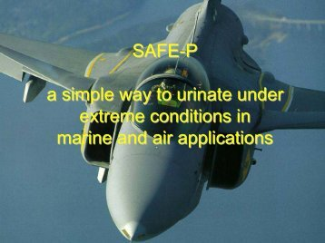 SAFE-P a simple way to urinate under extreme ... - Anagram AG
