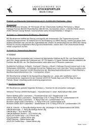 Bezirk 5 - Sitzung Vereinsobmänner 2004.10.01