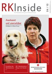 RKInside Die Mitarbeiterzeitung des OÖ Roten Kreuzes
