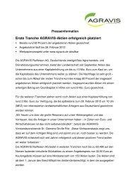 PDF-Download der Presseinformation - AGRAVIS Raiffeisen AG