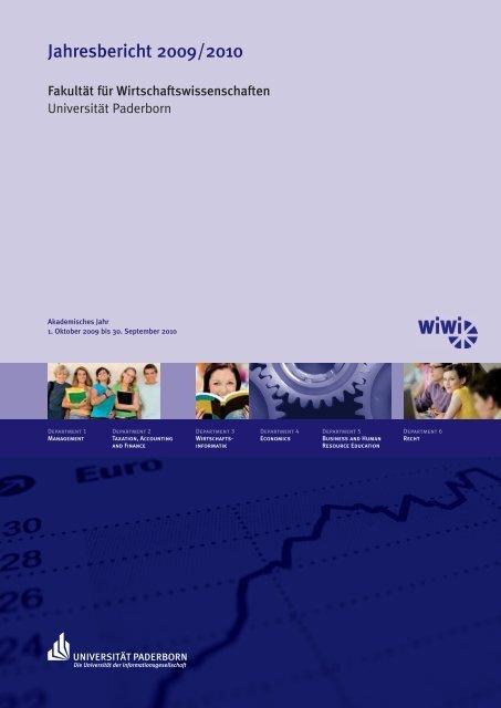 Jahresbericht 2009/2010 - Fakultät für Wirtschaftswissenschaften ...