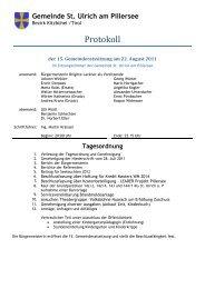 15. Gemeinderatssitzung (580 KB) - .PDF - St. Ulrich am Pillersee ...