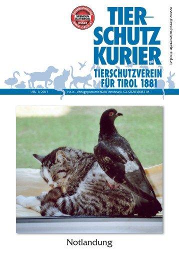tier schutz kurier - Tierschutzverein für Tirol