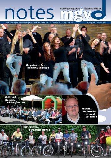 Wetter gut, alles gut... Heidbergfest 2012 Radtour 2012... der Ruhrtal ...