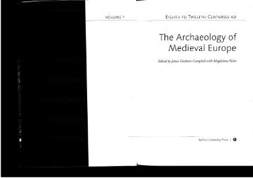 The Archaeology of Medieval Europe - White Rose Research Online