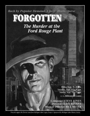 Composer STEVE JONES Director ELISE ... - Forgotten Show