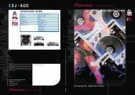 Technische Daten: CDJ-800 - Pioneer
