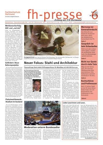 Fb architektur for Fachhochschule architektur