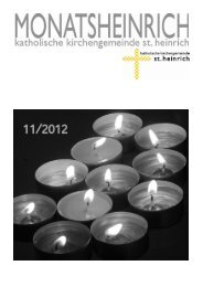 MonatsHeinrich November 12 - St.Heinrich, Kiel