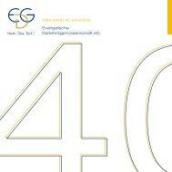 40 Jahre EDG - Evangelische Darlehnsgenossenschaft eG