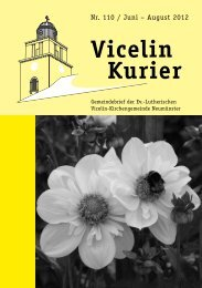 Nr. 110 / Juni – August 2012 - Ev.- luth. Vicelin - Kirchengemeinde ...