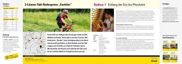 "3-Löwen-Takt Radexpress ""enztäler"" Radtour 1 ... - Enztalradweg"